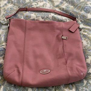 Coach Pink hobo bag